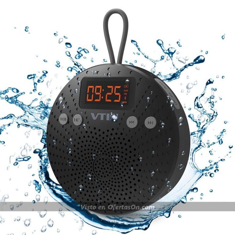 Altavoz Bluetooth 5W impermeable para ducha con ventosa, radio FM, despertador y manos libres VicTsing VTVNBS009B-ESAE1