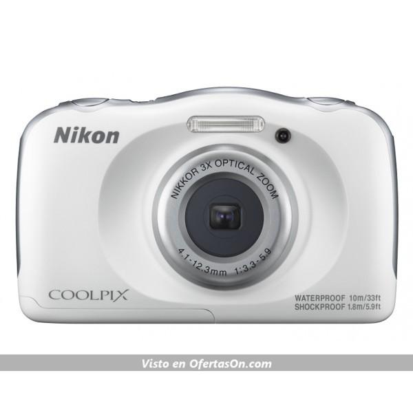 Cámara digital Nikon Coolpix W100 13.2MP color blanco