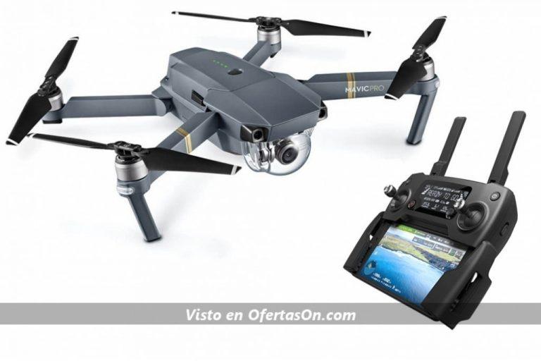 Dron DJI Mavic Pro (4K 30 fps, 12mpx, 65 km h, 27 minutos) color negro