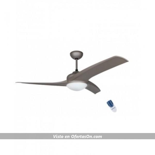 Ventilador de techo con luz Orbegozo CP 89132 55W marrón