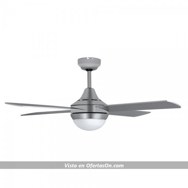 Ventilador de techo con luz led Orbegozo CP 91120 Household Blade Fan 60W de acero inoxidable