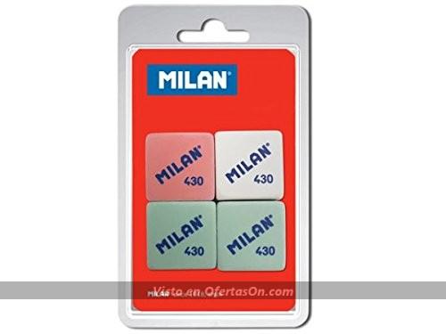 Pack de 4 gomas de borrar Milan BMM9215
