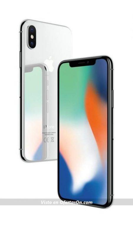 Apple iPhone X (64 GB) color plata