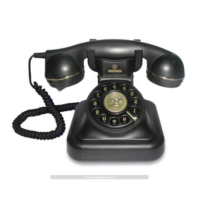 Teléfono fijo vintage 20 de Tiptel negro