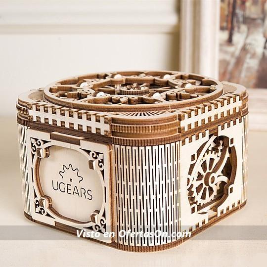 Kit para montar una caja de madera con apertura secreta