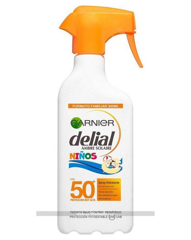 Protector solar en spray para niños Garnier Delial IP50 300ml