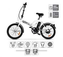Bicicleta eléctrica plegable Nilox ebike X1