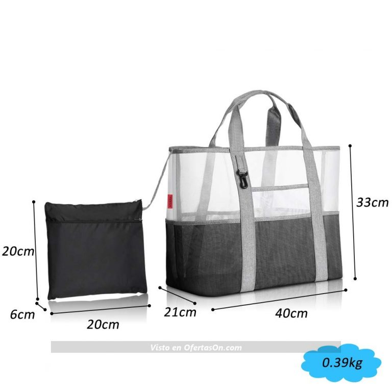 Bolsa de playa Yoofan 40x33x21 cm