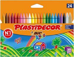 Ceras para colorear BIC Kids Plastidecor 24 unidades