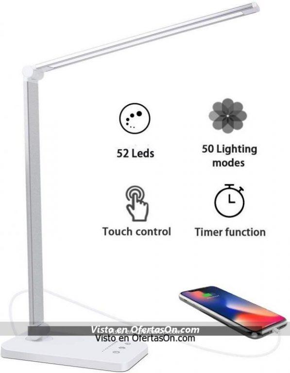 Flexo LED con 5x10 modos de brillo con batería A