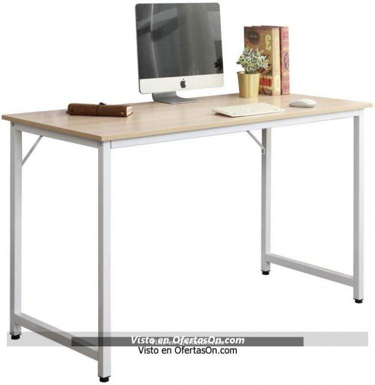 Mesa de escritorio Sogesfurniture de madera y acero 100x50x75cm