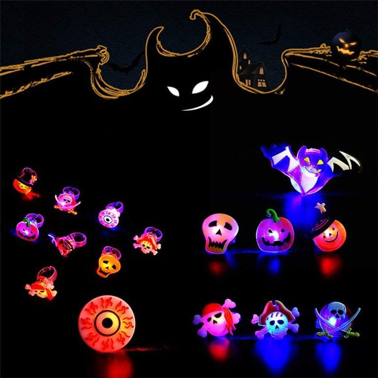 Anillos de Halloween luminosos Kafen 50 uds.