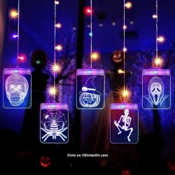 Cortina de luces LED de Halloween