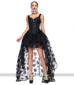 Vestido gótico vintage con corsé Szivyshi