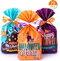 bolsas de chuches para halloween gwhole 72 uds