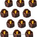 pack de 12 velas led para halloween flintronic