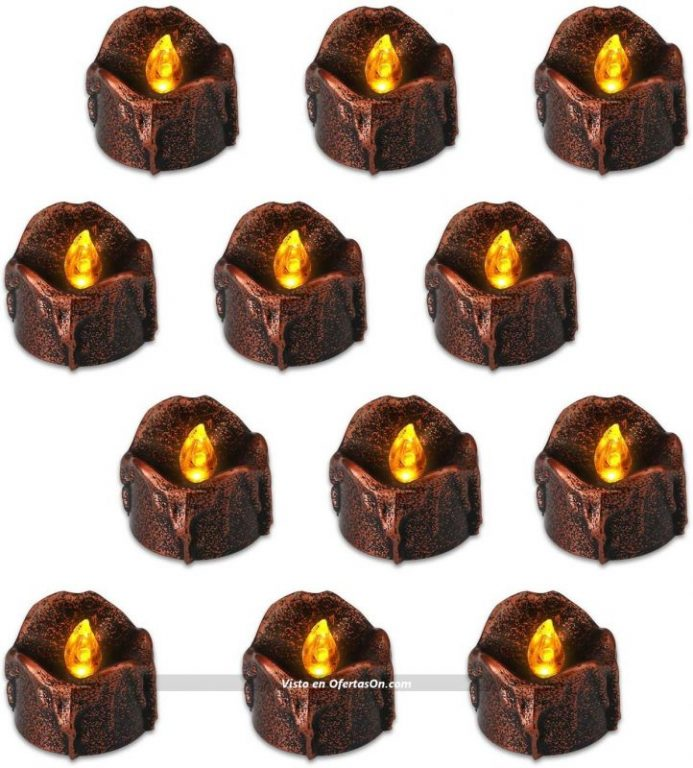 pack de 12 velas led para halloween flintronic