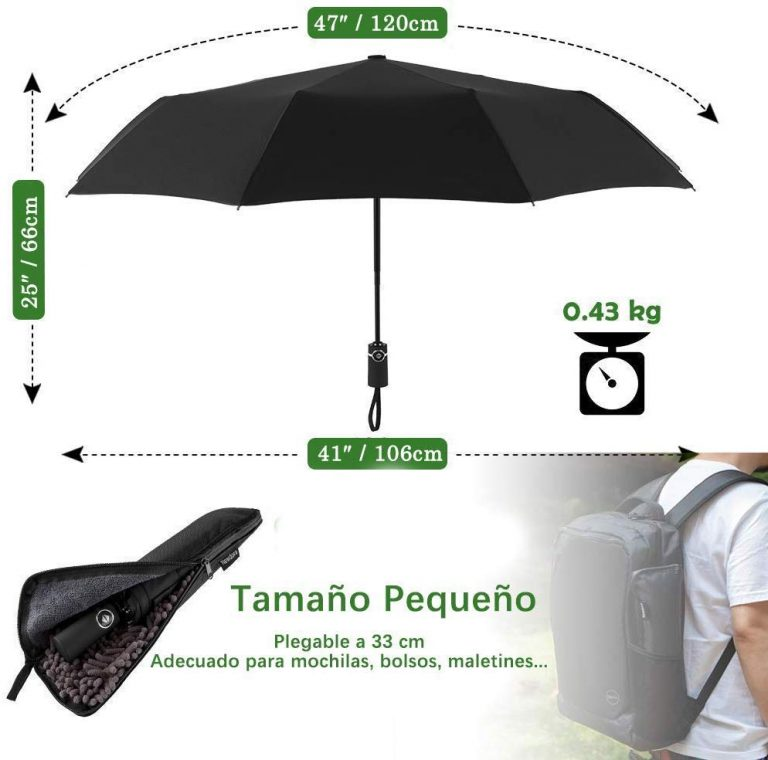 paraguas plegable automatico newdora 106cm