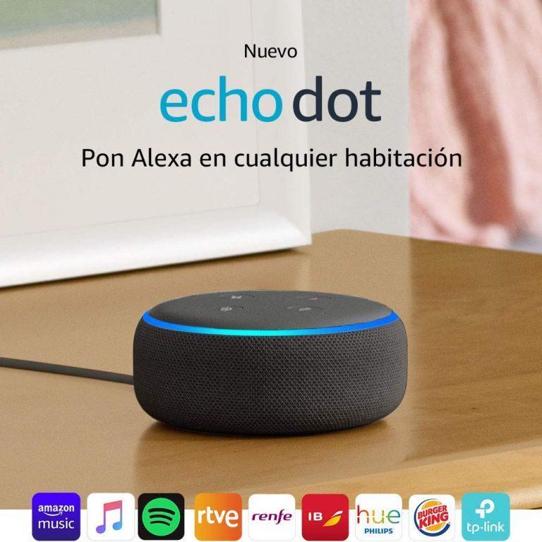 Altavoz inteligente Alexa Echo Dot 3.ª generación