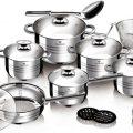 Batería de cocina acero inoxidable de hasta 27 piezas Blaumann