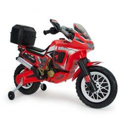 Moto Injusa Africa Twin a batería para niños a partir de 3 años color rojo