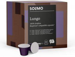 100 cápsulas de café Solimo Lungo compatibles con Nespresso