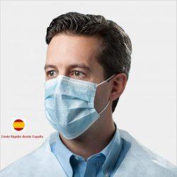 Pack 50 mascarillas desechables quirúrgicas de polipropileno con 3 capas y elásticos