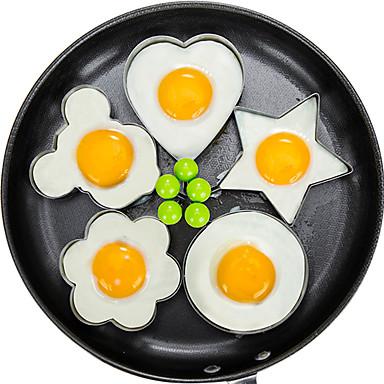 Set de 5 moldes para huevos fritos y tortillas
