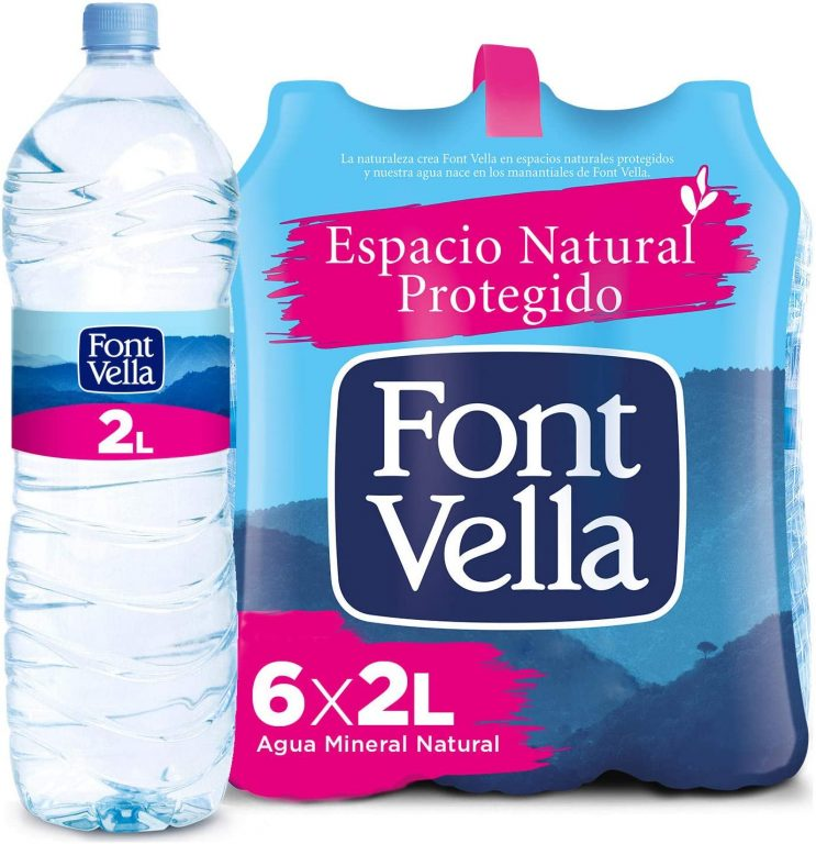 Agua mineral Fontvella 2L X 6