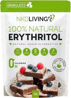 Eritritol 100 natural 1 Kg sustituto del azúcar con cero calorías