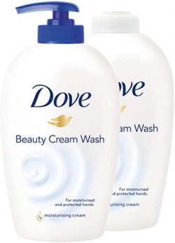Jabón de manos Dove con 1 4 de crema hidratante 250 ml recambio 250 ml