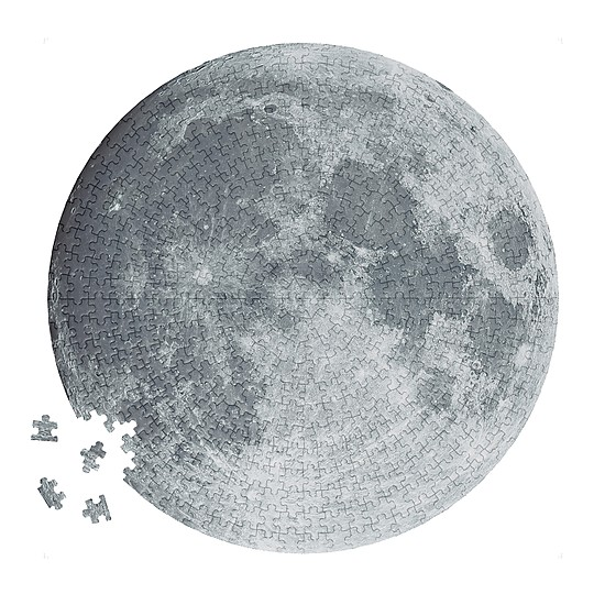 Puzzle circular de la Luna 500 piezas