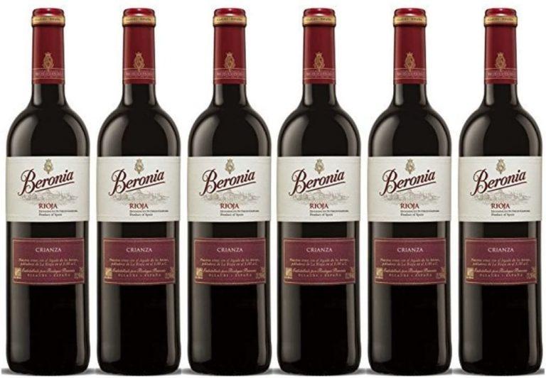 Vino Tinto Beronia Crianza Vino D.O. Ca. Rioja 6 Botellas de 750 ml