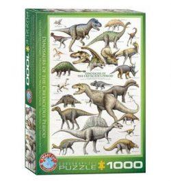 puzle dinosaurios del cretacico de eurographics 1000 piezas