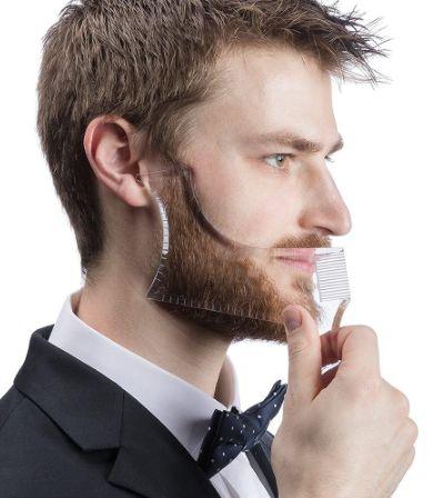 Plantilla guía para arreglo de barba