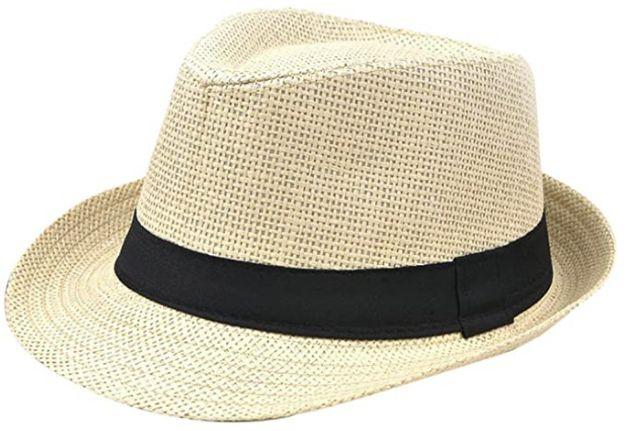 Sombrero de paja unisex Hosaire