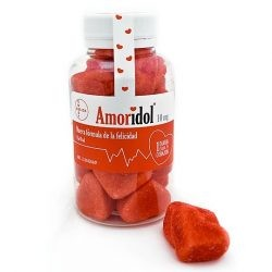 Amoridol gominolas de fresa y nata con forma de corazón