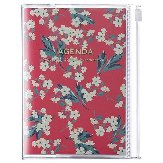 Agenda 2021 de diseno floral japones en tamano A5
