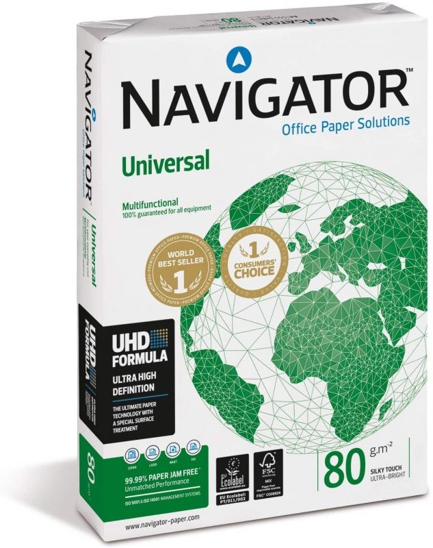 Folios multiusos Navigator Universal 500 hojas A4 80gr