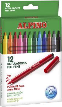 Rotuladores de colores Alpino AR001002 12 uds.