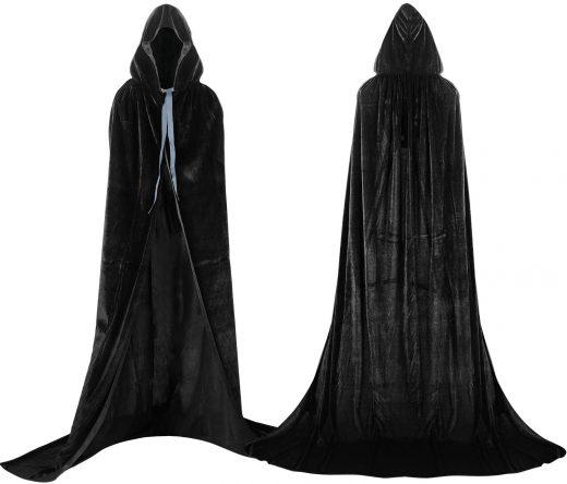 Capa larga con capucha para disfraz colores surtidos en varias tallas