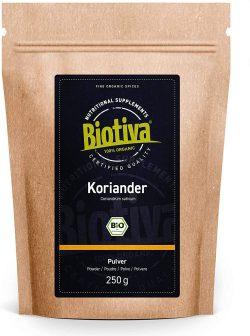Cilantro organico molido 250g Biotiva