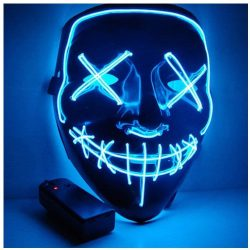 Mascara con luces LED para Halloween
