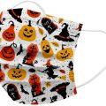 Mascarillas desechables para ninos con dibujitos de Halloween 50 uds.