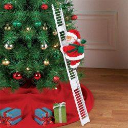 Juguete decorativo Papa Noel en escalera