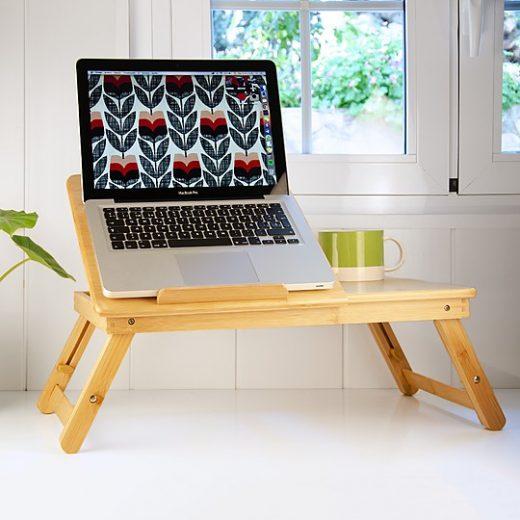 Bambita la mesa plegable de bambu