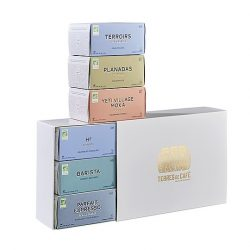 Caja de regalo con 60 capsulas de cafe gourmet