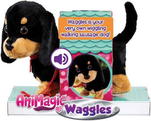 Perrito salchica Waggles de Animagic