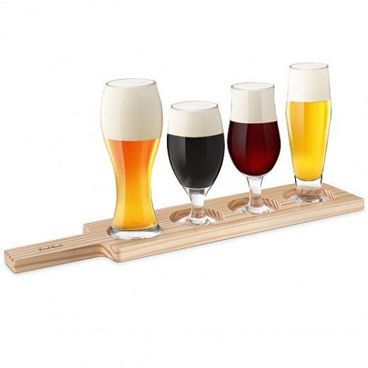 Set de 4 copas para distintos tipos de cerveza