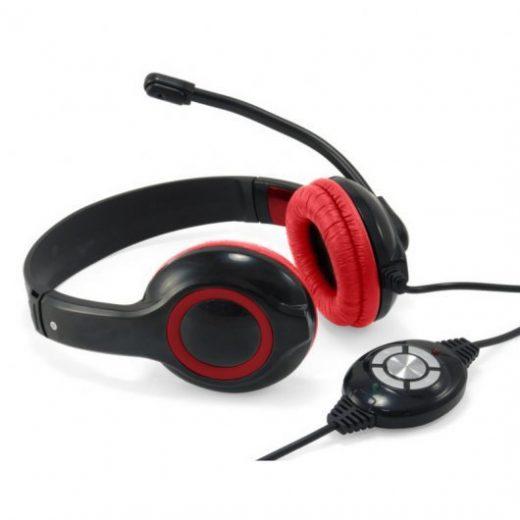 Auriculares de diadema con microfono y control de volumen Conceptronic CCHATSTARU2R